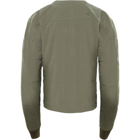 The North Face Mountain Sweatshirt Collarless Full Zip Dame new taupe green